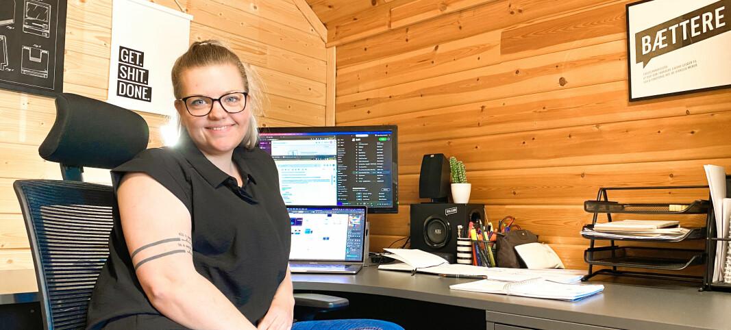Agnes Beate tørket støvet av gamle forretningsplaner - nå har hun eget firma med kontor på søppeldynga