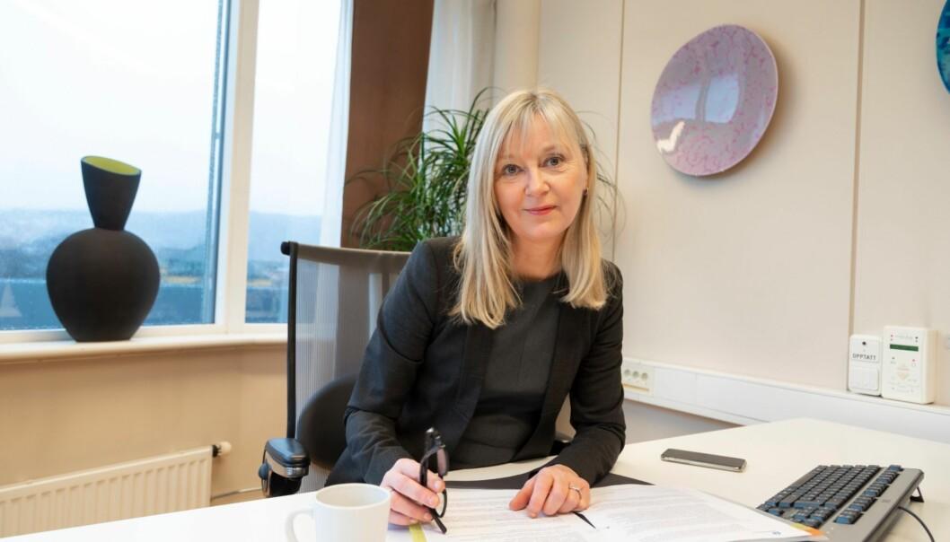 Arbeidstilsynet søker ny seniorrådgiver til avdelingen for kommunikasjon og brukerdialog. På bildet er direktør i Arbeidstilsynet, Trude Vollheim.