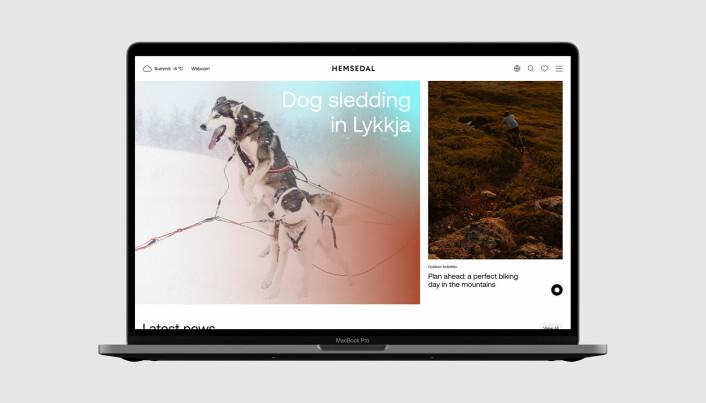 Visuell identitet og webside er designet av Bleed, mens Avento har vært ansvarlig for teknisk utvikling.