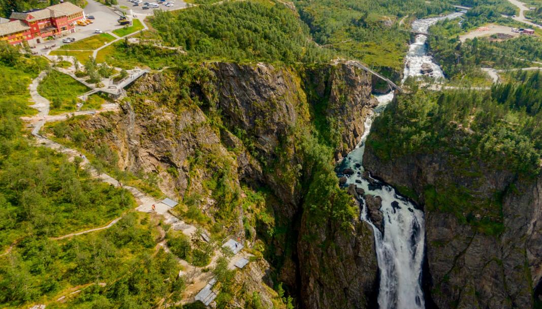 Regjeringen legger 50 millioner kroner på bordet for å lokke turister til Norge igjen. Her fra turistperlen Vøringsfossen i Eidfjord.