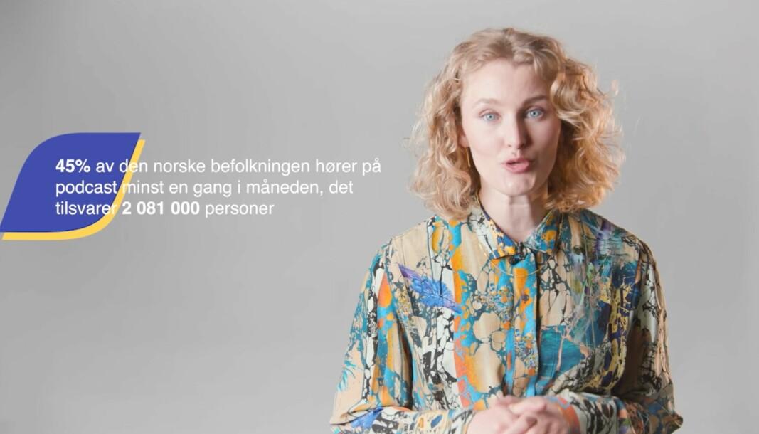Under foredraget holdt av innholds- og utviklingssjef i Acast, Stine Stangnes Tellefsen, ga hun gode råd for hvordan man kan ta i bruk podkast som et formidlingsverktøy.