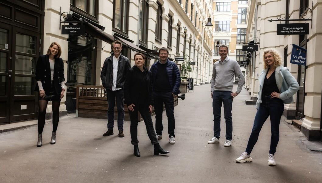 Fra venstre styreleder Masha Scekic sammen med Sten Bråthen, Lena Sarset, Jo-Øystein Slinde, Sverre Vinje og Kine Wølneberg.