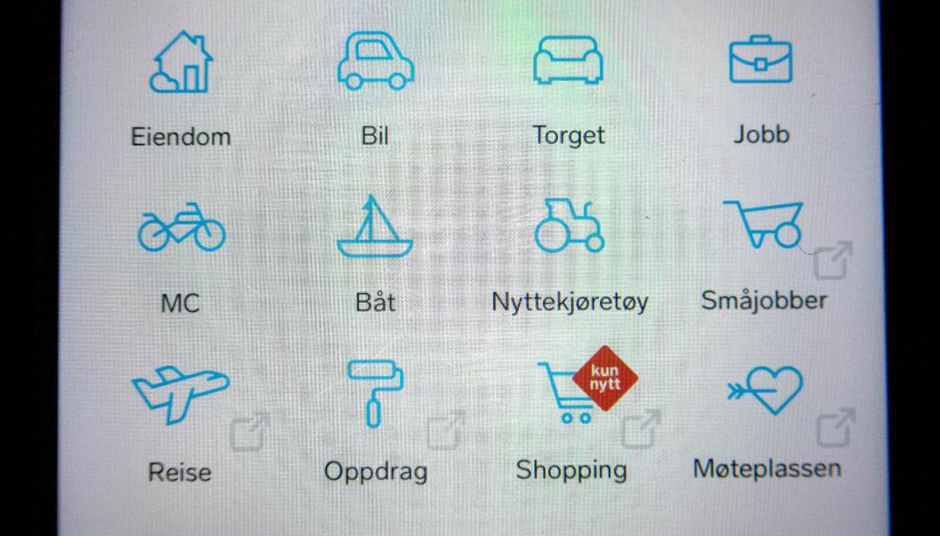 Oslo  20190225. Illustrasjonsbilde: Finn appen på mobil. Foto: Gorm Kallestad / NTB