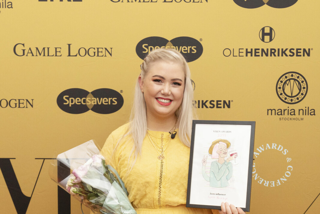 Agnete Husebye, bedre kjent som «Agnetesh», vant Årets Influencer under VIXEN Awards i 2019.