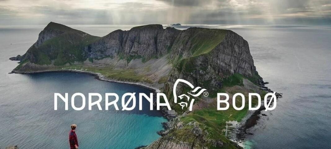 Norrøna brukte bilde av en fjelltopp i forbindelse med butikkåpning, nesten hundre kilometer unna butikken
