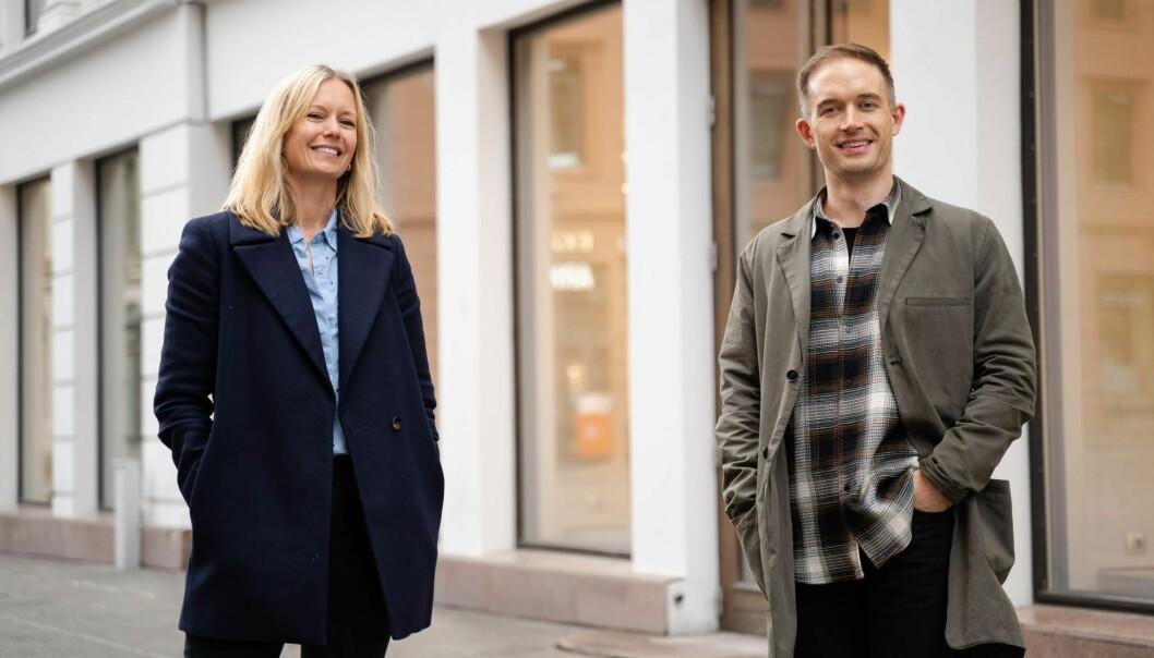 Tormod Aasli Kvithyld blir ny innholdsredaktør i TRY. Her sammen med leder for TRY Innhold, Lene Vintervoll.
