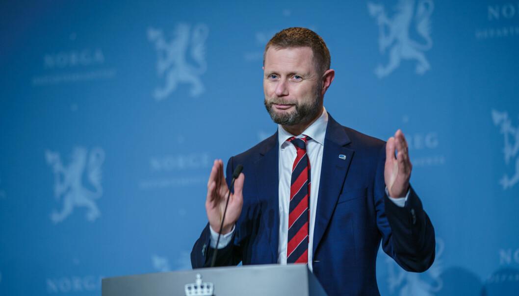 Helse- og omsorgsminister Bent Høie under pressetreffet om korona i Marmorhallen i desember 2020.Foto: Stian Lysberg Solum / NTB