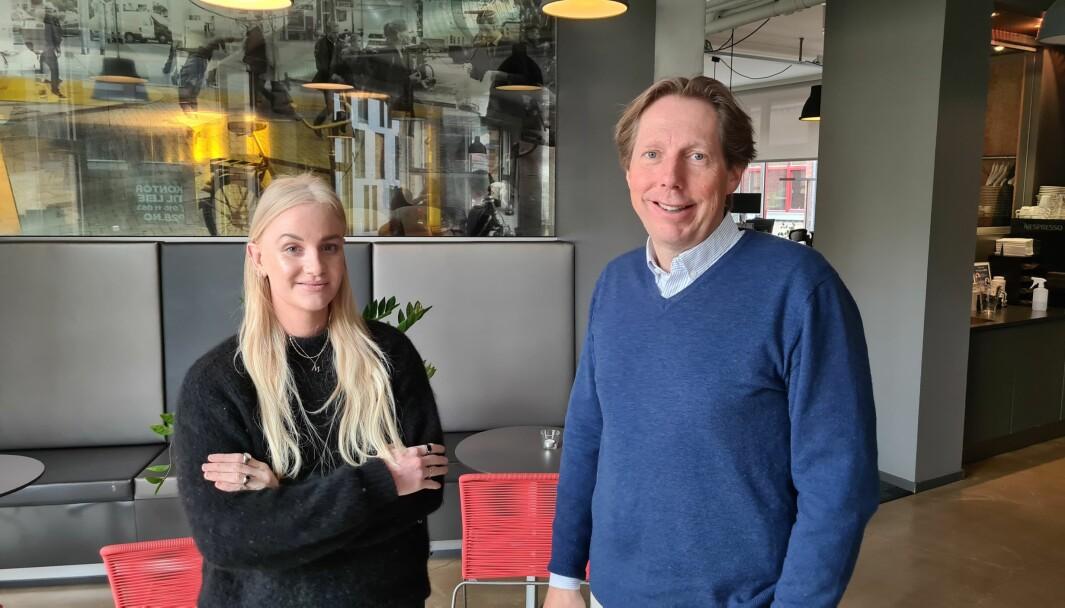 F.v. Mari Aldridge Øverland (Client Lead, RED dentsu X) og Christian Espeseth (Adm.Dir, RED dentsu X)