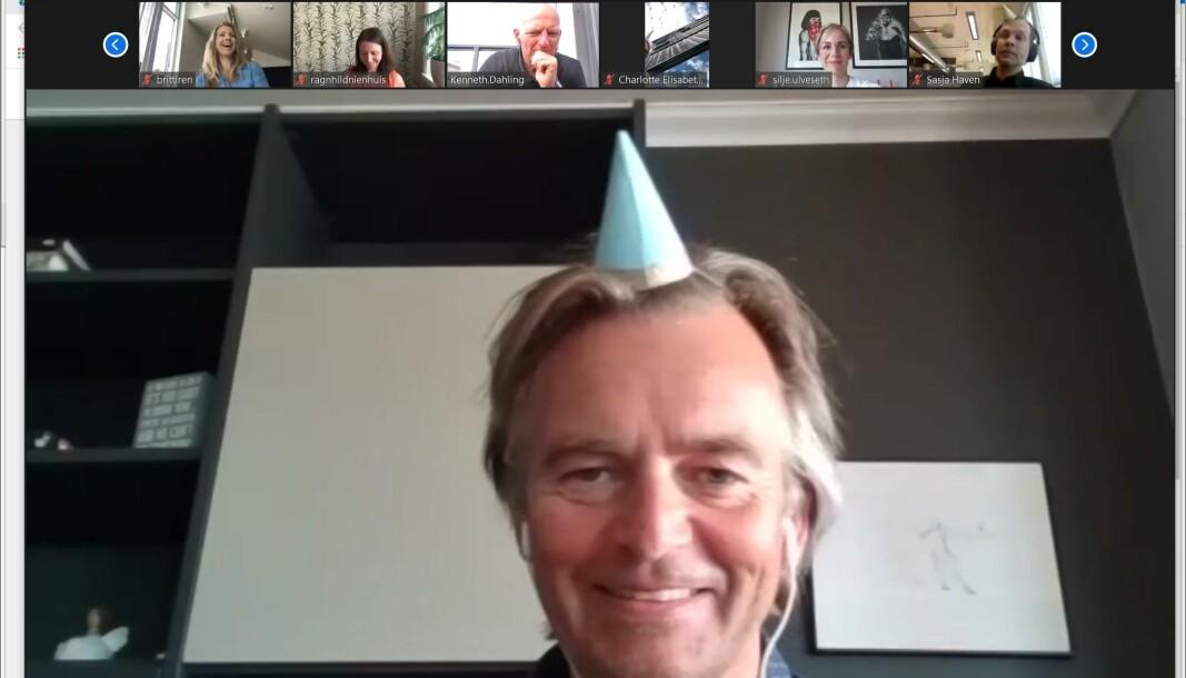 Magnar Øyhovden feirer at Apriil er ett år gammel. Han sier han er glad de tok sjansen på å lansere Apriil i fjor.