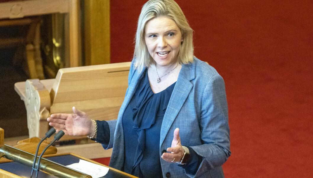 Sylvi Listhaug (FrP) i Stortinget. Foto: Gorm Kallestad / NTB