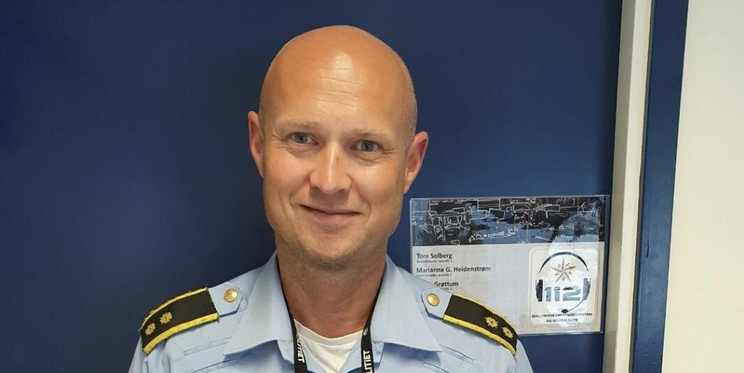 Avsnittsleder i Oslo politidistrikt, Tore Solberg. Det var han som la ut den aller første tweeten tilbake i 2011.