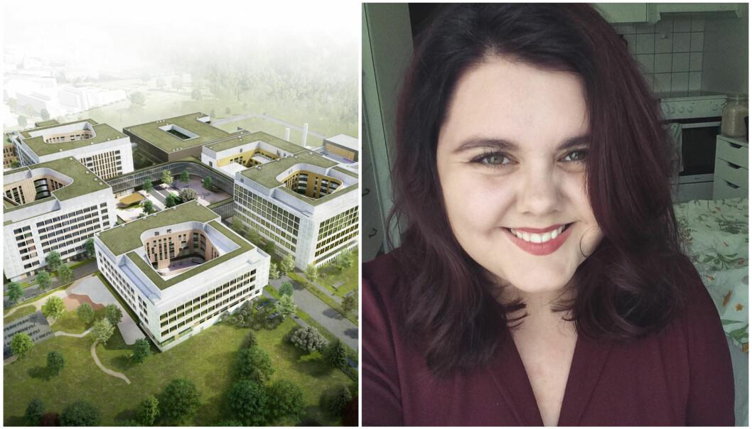 Frida Ripland Moberg ser på seg selv som heldig som får formidle sykehusets hverdagshelters viktige arbeid ut til lokalbefolkningen.