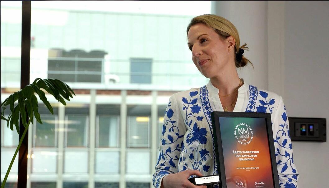 – Jeg er veldig glad for at det settes så stort fokus på dette, sier Kate Aunaas Ingram under Magnet Awards. Tirsdag ble hun tildelt prisen som årets fagperson innen employer branding.