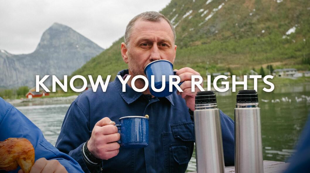 «Know Your Rights» for Arbeidstilsynet av Geelmuyden Kiese.