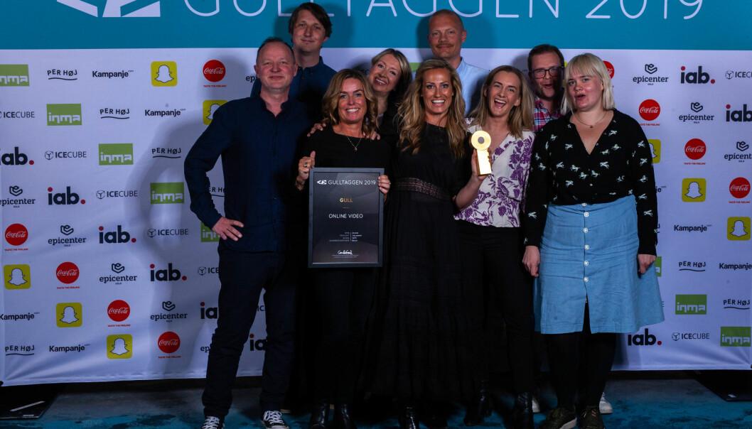 Anorakk herjer i årets Gulltaggen. Her fra prisutdelingen av Gulltaggen 2019 hvor de vant gull i kategorien «Online video»