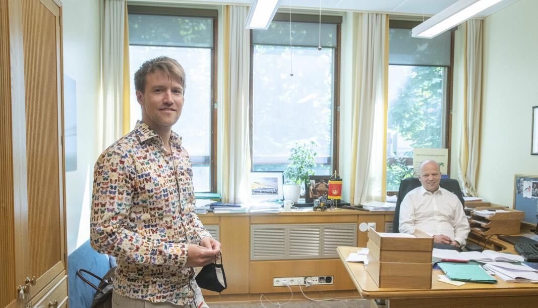 Lars Vangen, er rådgiveren til Trygve Slagsvold Vedum og leder i kommunikasjonsavdelingen i Sps stortingsgruppe.