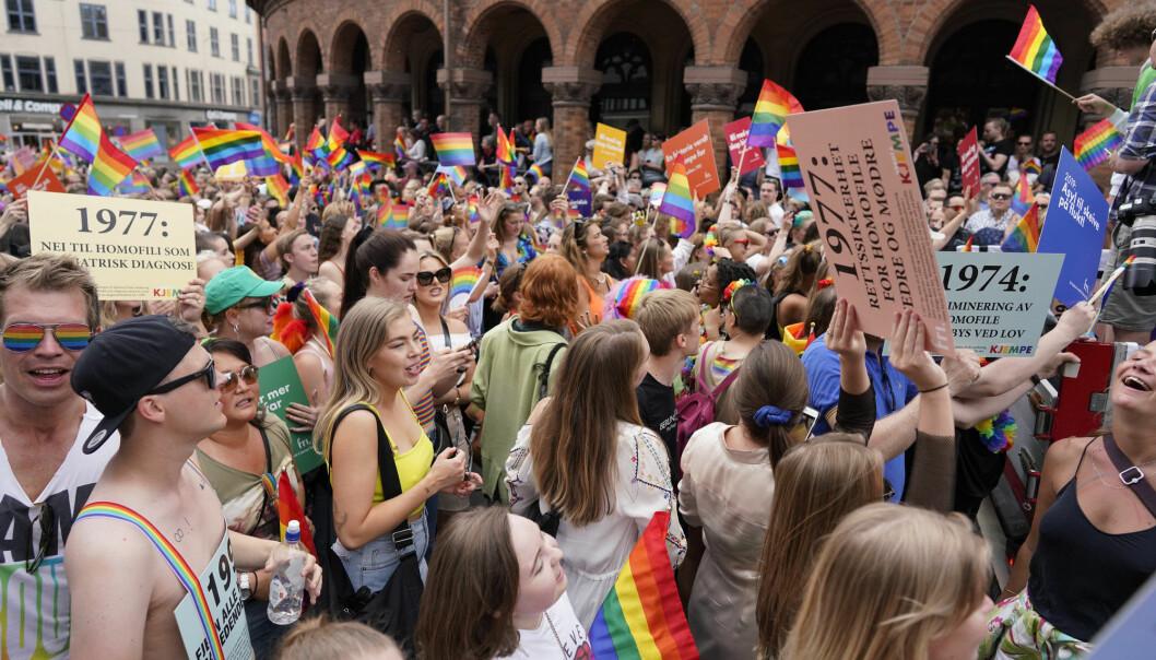 Bilde fra Oslo Pride Parade tilbake i 2019. Foto: Fredrik Hagen / NTB