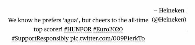 Denne tweeten er slettet fra Henekens Twitterkonto.
