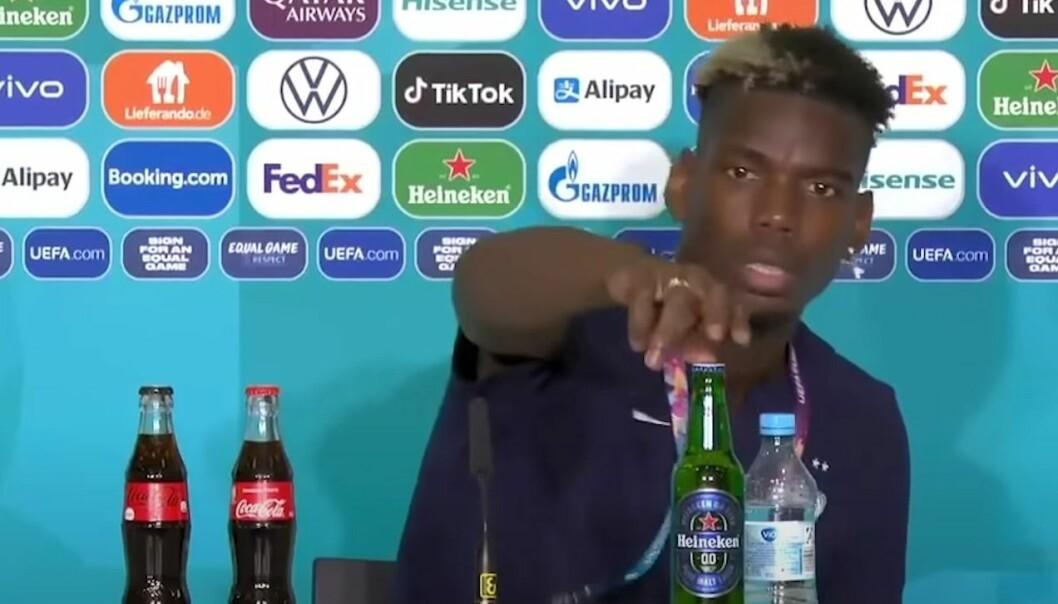 Paul Pogba fjernet flasken med lettøl