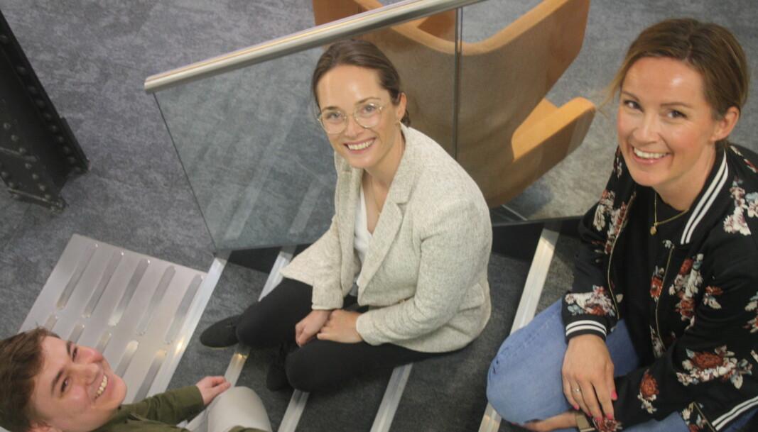 Sindre Pernell Nordby, Tanya Ferder Heglund og Kjersti Rynning Borander i Markedssjefene.