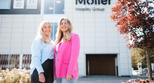 Julie og Lisa baserte eksamen på et ekte case for Møller Bil, endte med internship