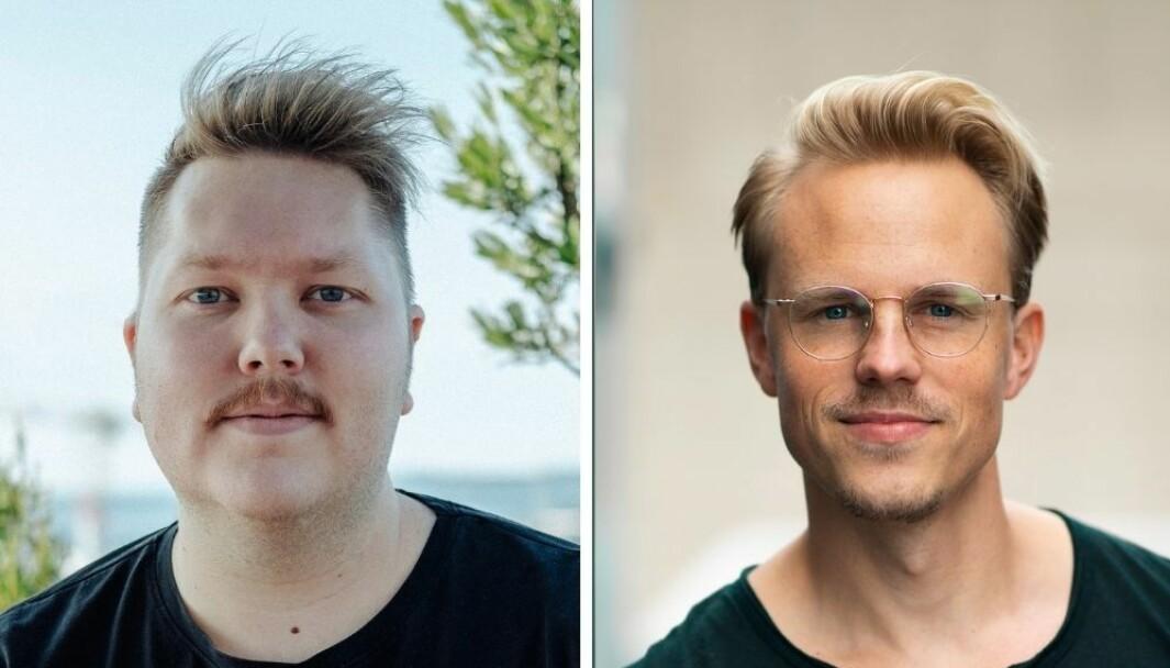 Spoon har laget en alternativ budskapsformidling om et alvorlig tema for bane NOR. Fv. Marius Hole og Mats Michael Olsen.