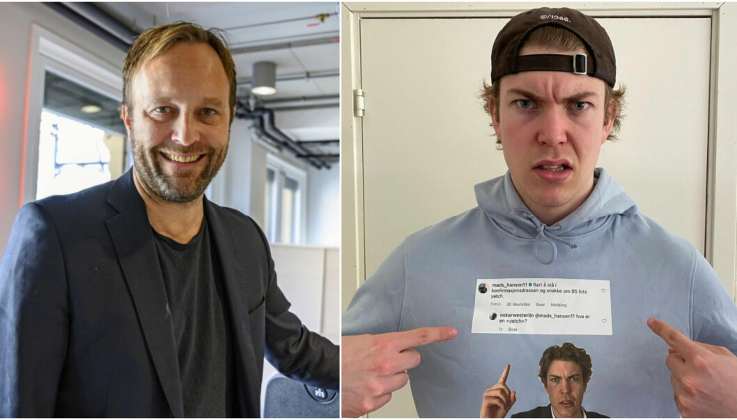 Sindre Beyer får gjennomgå når TikTok-stjernen Oskar Westerlin rater kjøleskapet hans.