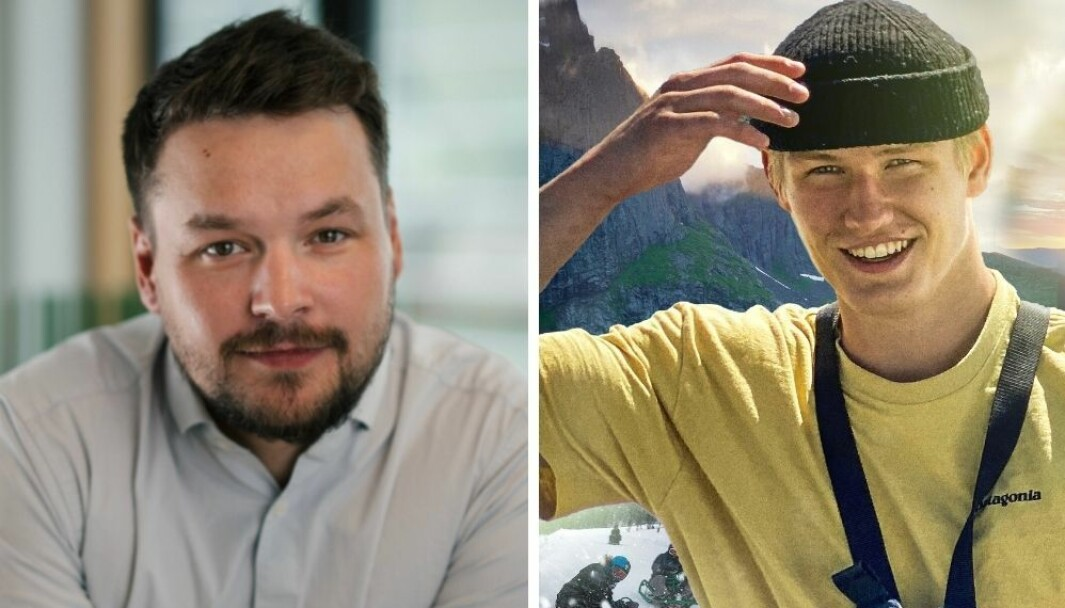 Wiggo Yttergård (fv), ble imponert over Johan Haugsruds TikTok videoer. Nå har han ansatt Johan.