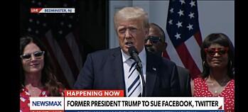 Trump saksøker Facebook, Twitter og Google