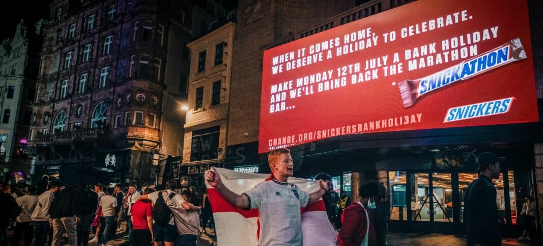 Snickers lover å gjeninnføre legendarisk sjokolade-navn om alle får fri dagen etter EM-finalen