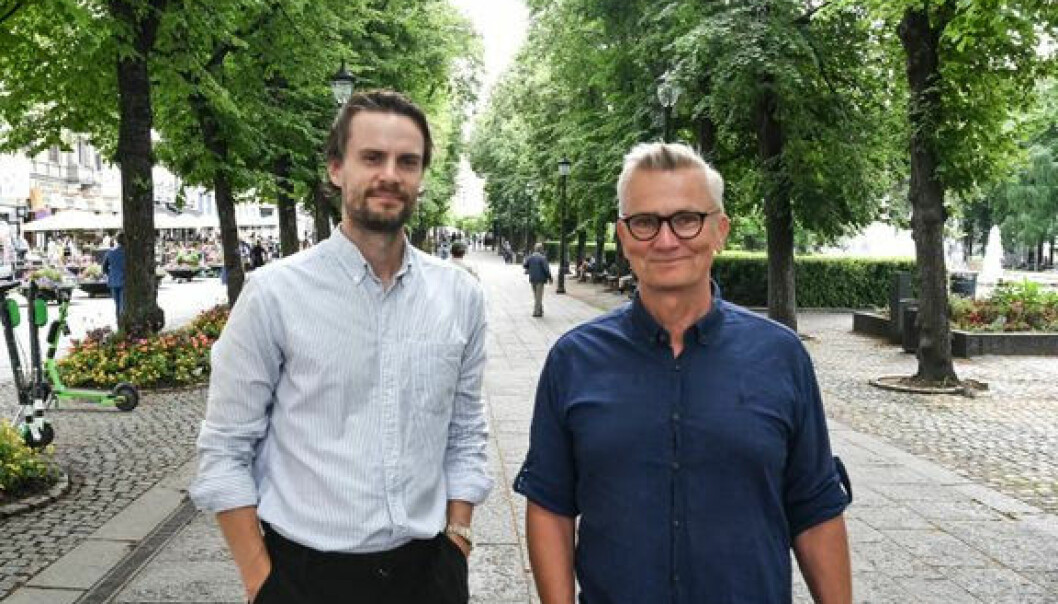 Petter Remen Hanssen i Landkreditt (t.v.) og Eldar Skylstad i Good Morning Naug.