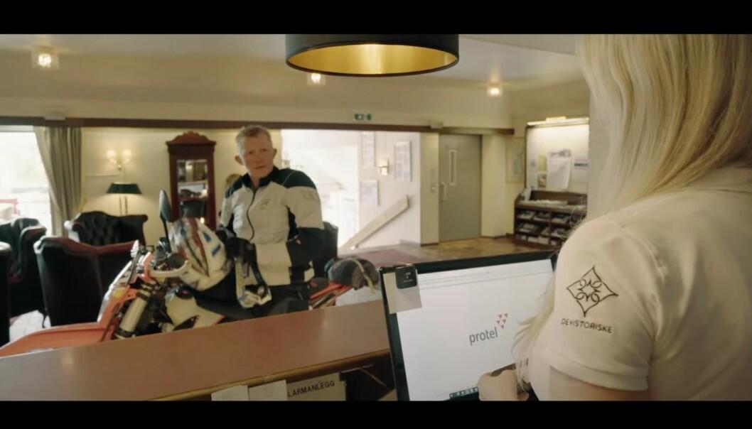 MC-føraren Pål Anders Ullevålseter er frontfiguren i den nye kampanjen som er laga i Telemark.