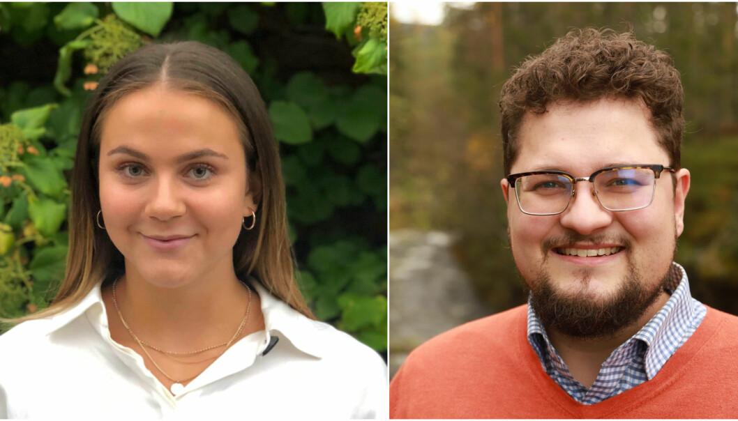 Celine Lyse Augdal(23) og Kristofer Olai Ravn Stavseng(29) skal jobbe som rådgivere i Finansdepartementet