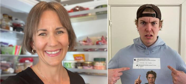TikTok-stjerne «rater» kjøleskapet til Maarud-sjef: – Cathrine er en sunn dame til tross for at hun selger chips