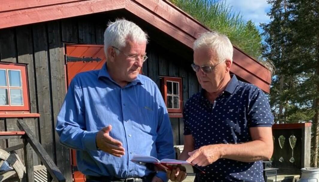 Talsperson (f.v) Ole Gunnar Hauso sammen med styreformann Finn Helge Tolpinrud.