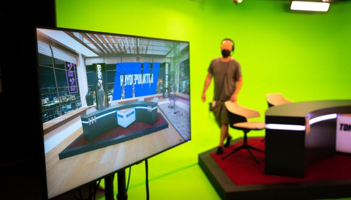 Discoverys nye green screen vegg skal ta seerne med til et virtuelt studio i Tokyo.