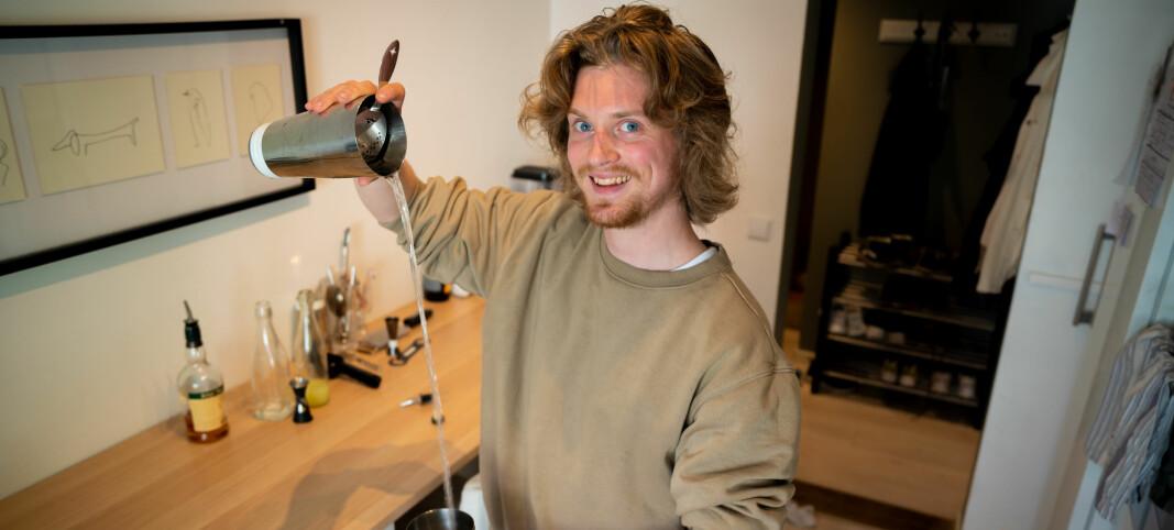 Andreas er hele Norges bartender på TikTok: Nå har han over 130.000 følgere