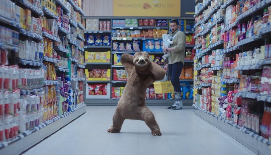 Verdens treigeste dyr har satt fart på kampanjen til dagligvarekjeden Coop Prix.