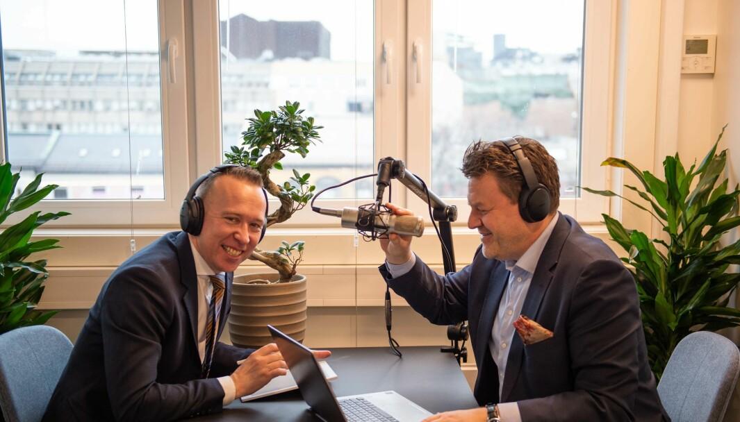 MeyerHaugen lanserer Stillingspod (f.v) Sverre Haugen og Petter Meyer.