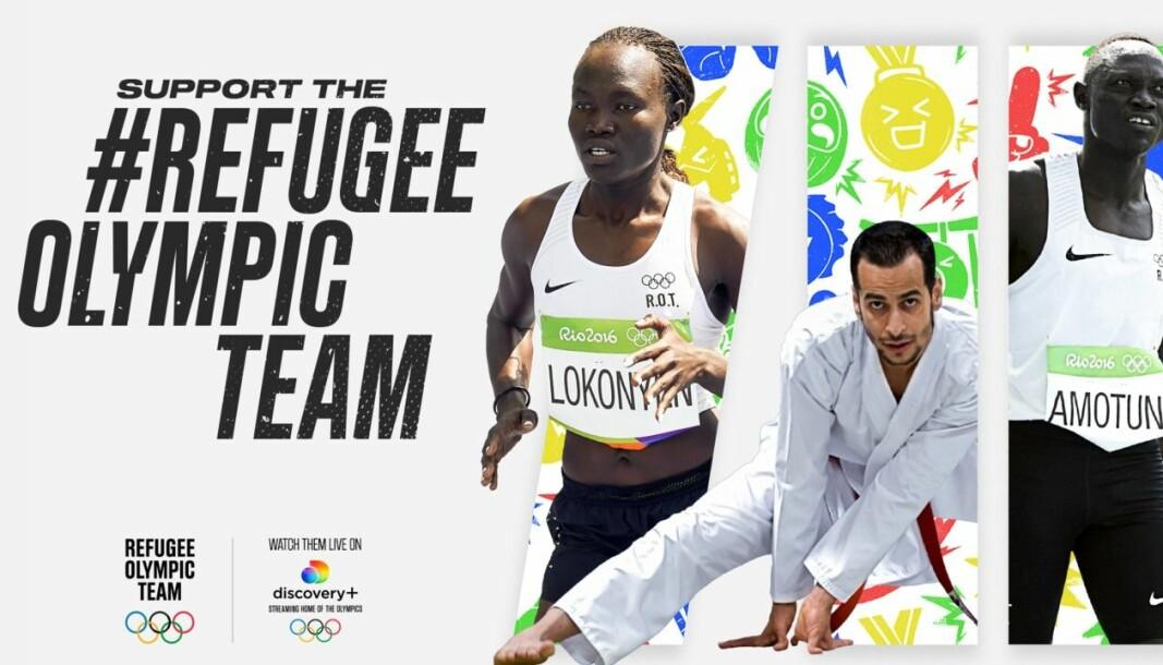 Ved å delta i «Support the #RefugeeOlympicTeam»-kampanjen blir seerne en del av heiagjengen til utøverne som i tillegg til å inspirere en hel verden med sitt pågangsmot, representerer over 80 millioner fordrevne mennesker verden over