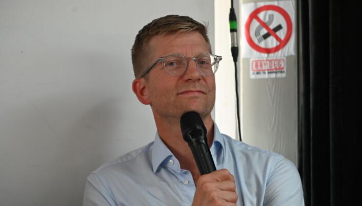 Svein Tore Bergestuen, partner og gründer av Sannum & Bergestuen under Arendalsuka 2021. Debatt: Kan kommunikasjonsfolk bidra til å jevne ut kjønnsforskjeller i mediene?