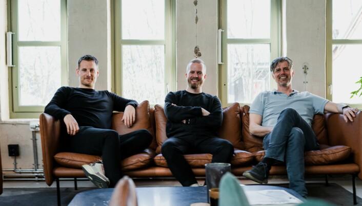 Grunnlegger og daglig leder Kristoffer H. Engebø, Markedssjef Petter Blandhol, Pedagog i Numetry; Håvard Tjora