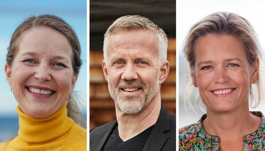 Marte Ramborg (f.v), blir konsernsjef i Spoon. Anders Ribba vil nå konsentrere seg om jobben som konsernsjef i PeoplePeoplePeople, bryågruppen der Spoon er den største enheten, og Siv Tonje Solfjeld som siden 2017 kom inn som nestleder.