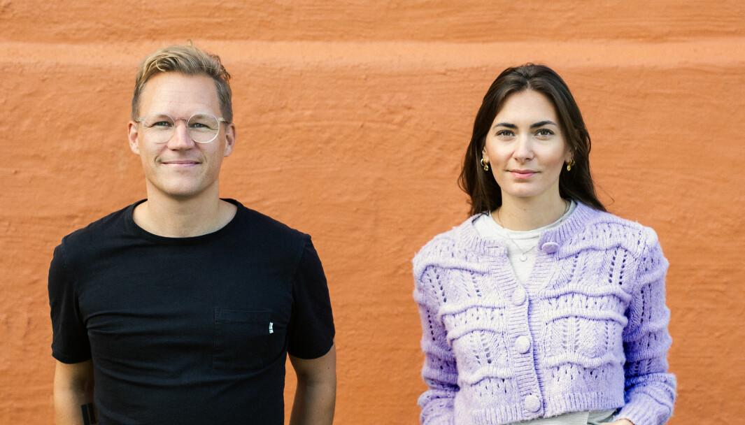Byråleder Lars Eia Kirkholm sammen med prosjektleder Solene Lie Bourgetel.