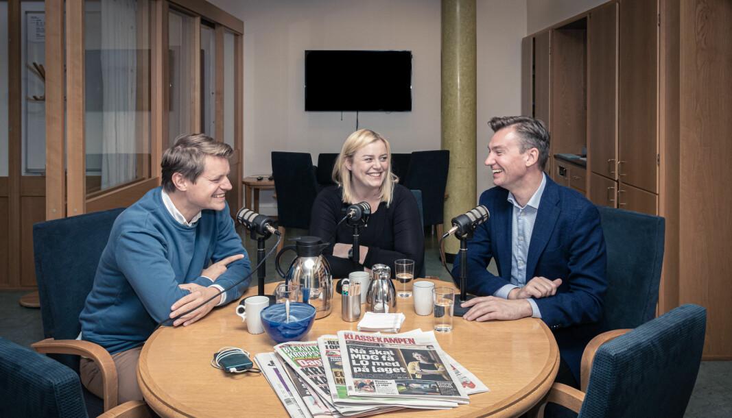 Valkampen er på sitt mest intense og nå blir podkasten Stortingsrestauranten vekket fra de døde. Her er Peter Christian Frølich, Tina Bru og Henrik Asheim i studio.