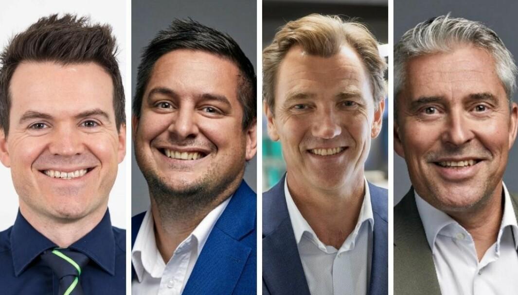 Store endringer i Elkjøp: Trygve Hillesland, Fredrik Tønnesen, Erik G. Sønsterud og Per Wernersson.