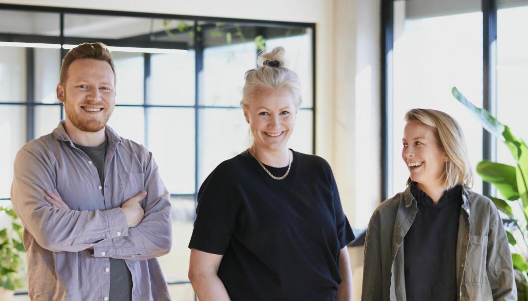 Fra venstre: Snorre Martinsen , ny Bureauleder Lise Schelvan og Maja Folgerø. Sammen utgjør de nå Bureau.