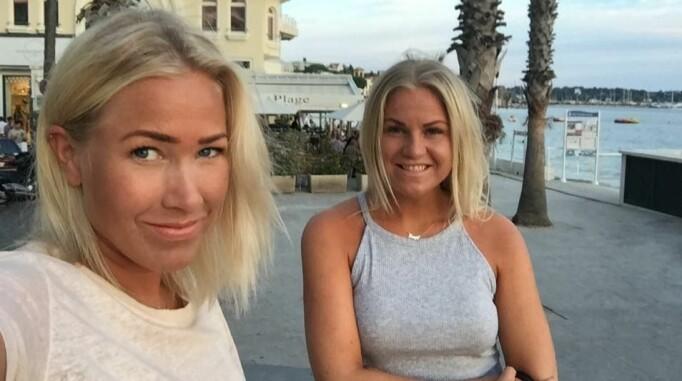 Søstrene på ferie i Antibes i 2015. – Den første #Sjekkdeg-kampanjen ble lansert. Thea var i ekstase, men også veldig varierende i formen og sliten etter behandling, forklarer Tonje.