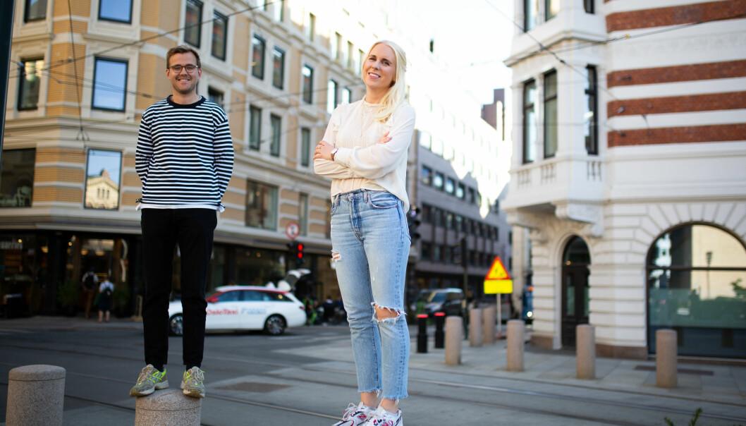 Leder for produksjonsenheten i TRY Råd, Simen Aukland sammen med sin nye innholdsprodusent, Maren Kateraas.