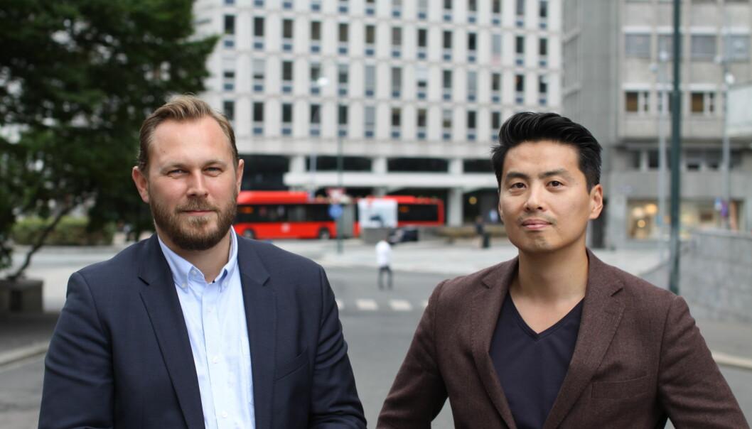F.v. Ole Emil Johnsen og Marius Myhrvold